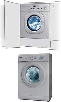 built-in and freestanding washer dryer