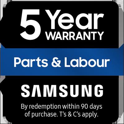 Samsung BESPOKE 5 Year Warranty