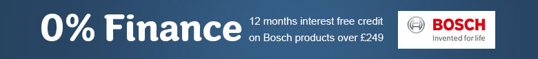 0% Finance on Bosch