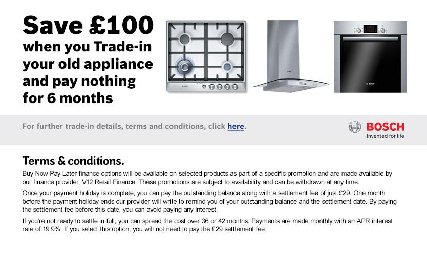 BNPL Bosch Trade In £100