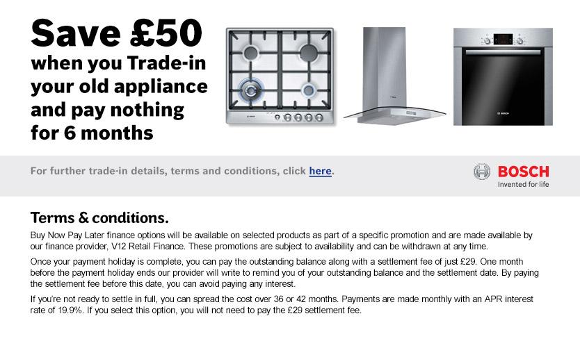 BNPL Bosch Trade In £50