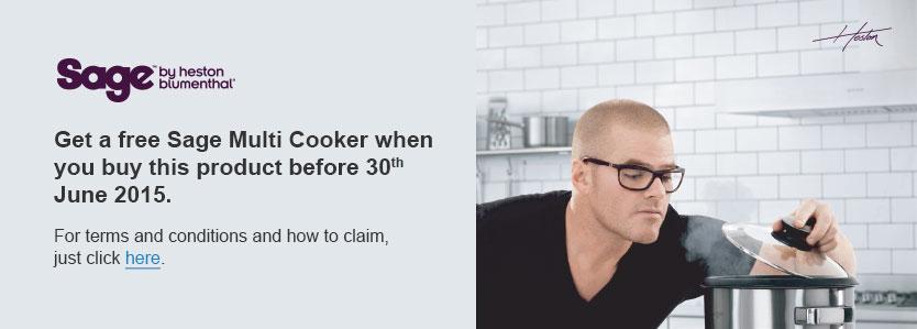Free Sage Multi Cooker RRP £99
