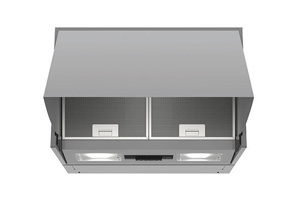 Integrated cooker hood