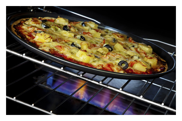 Top gas oven and grill