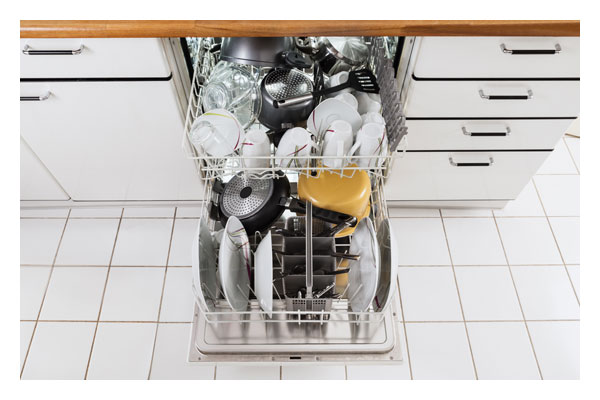 Dishwasher adjustable racking