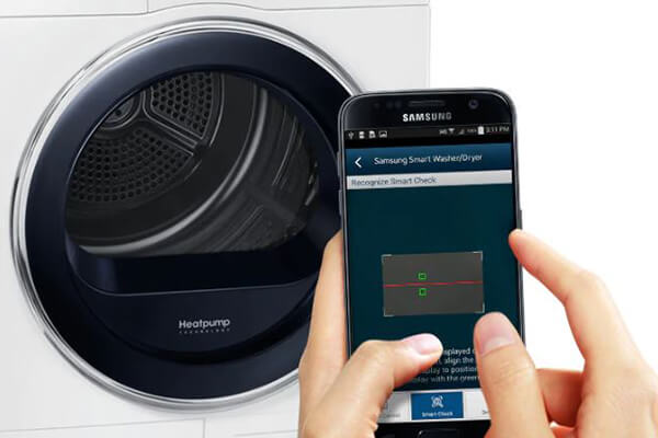 Samsung tumble dryer smart check feature
