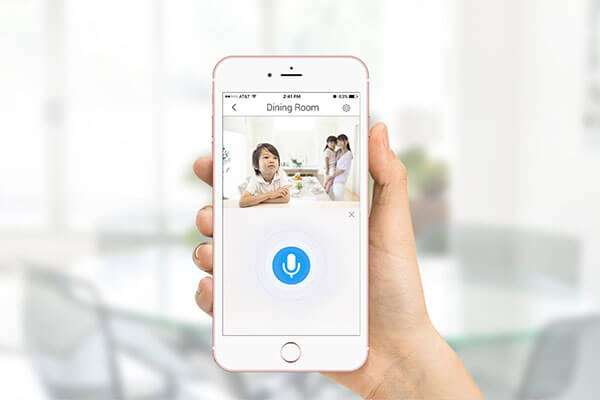 EZVIZ WiFi Smart Home Security Camera With Strobe Light - White